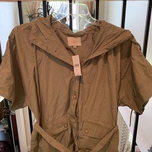 NWT Loft Poplin Poncho Jacket